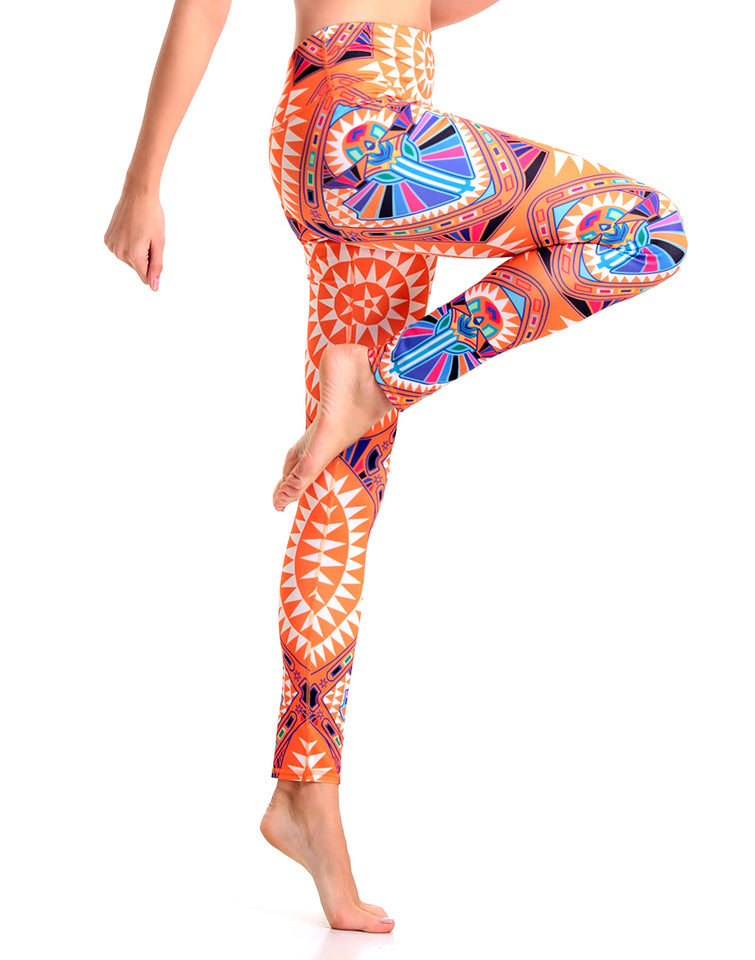 Orange Bushes Yoga Pants