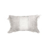 Rectangle Monster fur & Sequence Grey Throw Pillow