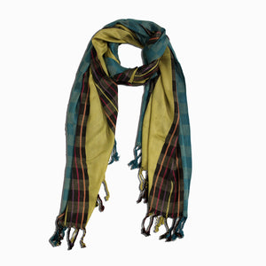 Thin Stripes & Boxes C17 Jacquard Scarf