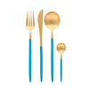 Matt Gold & Blue Cutlery Set