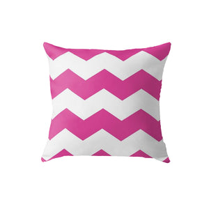 SuperSoft Pink Chevron Throw Pillow