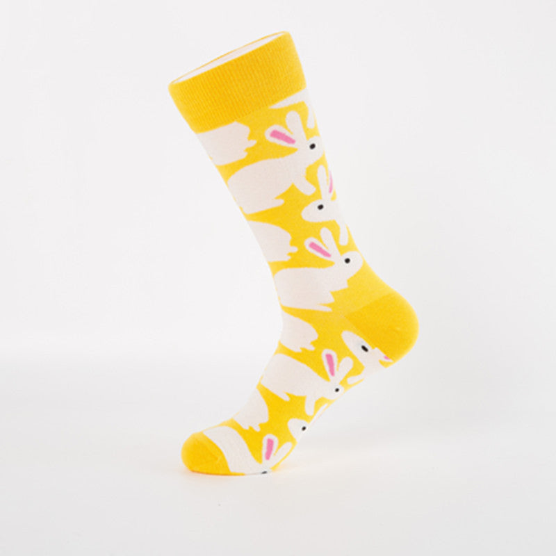 Yellow Rabbit Crazy Socks