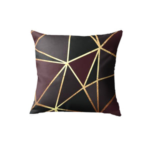 SuperSoft Geometric Metallic Pattern Burgundy