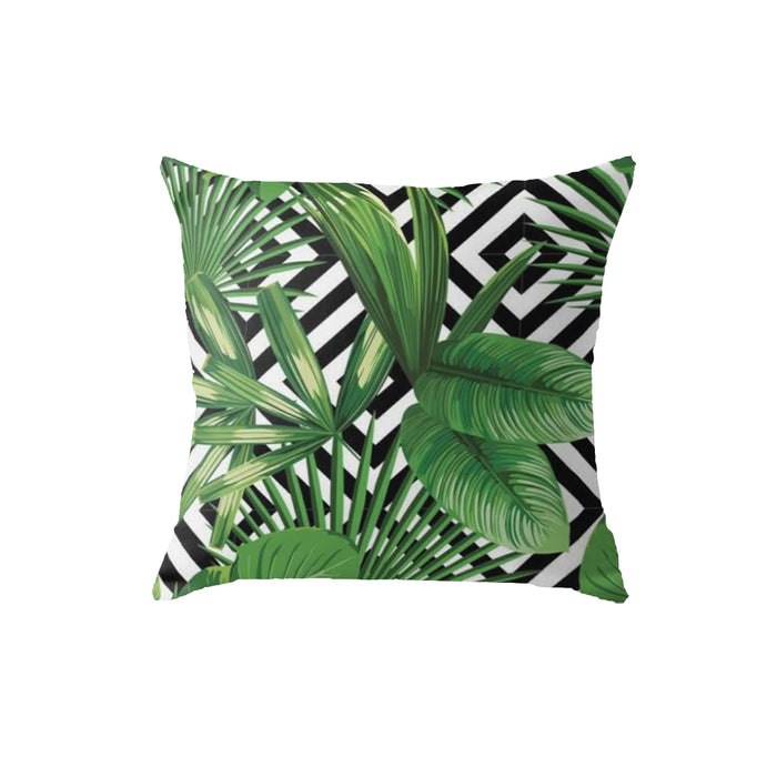 SuperSoft Tropical Geometric Throw Pillow