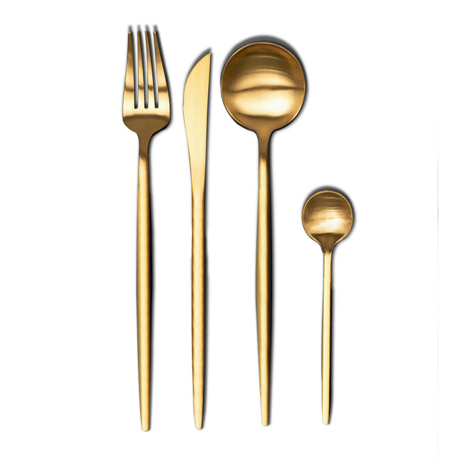 Matt Full Gold Cutlery Set