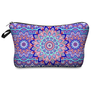 Multicolor Pattern Small Make Up Case