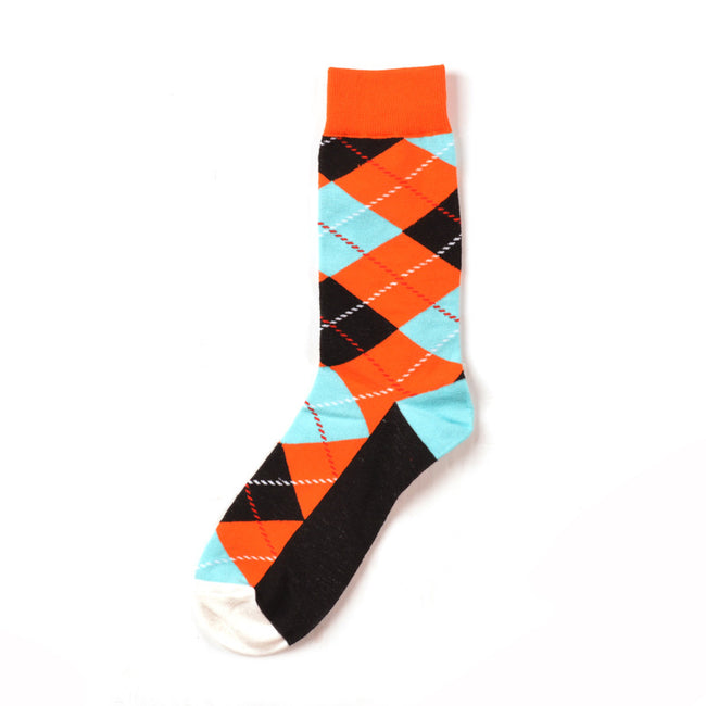 Diamond Orange Crazy Socks