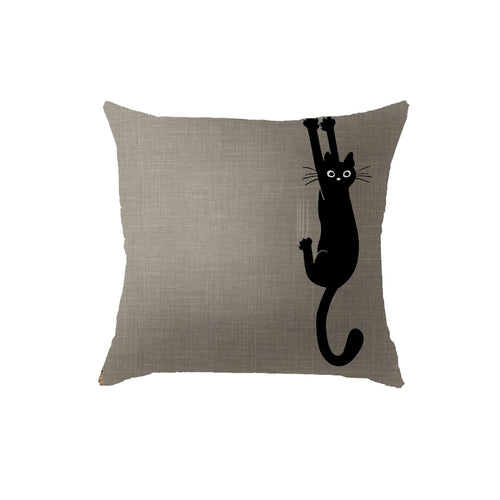 SuperSoft Cat Climbing Throw Pillow