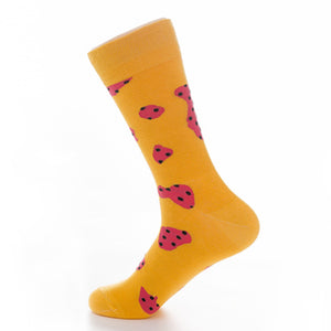 Yellow on Pink Crazy Socks