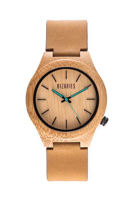 Brown Wooden Timepiece 002