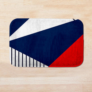 SuperSoft Red & Navy Door Mat