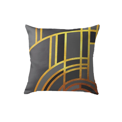 SuperSoft Art Deco Grey Throw Pillow