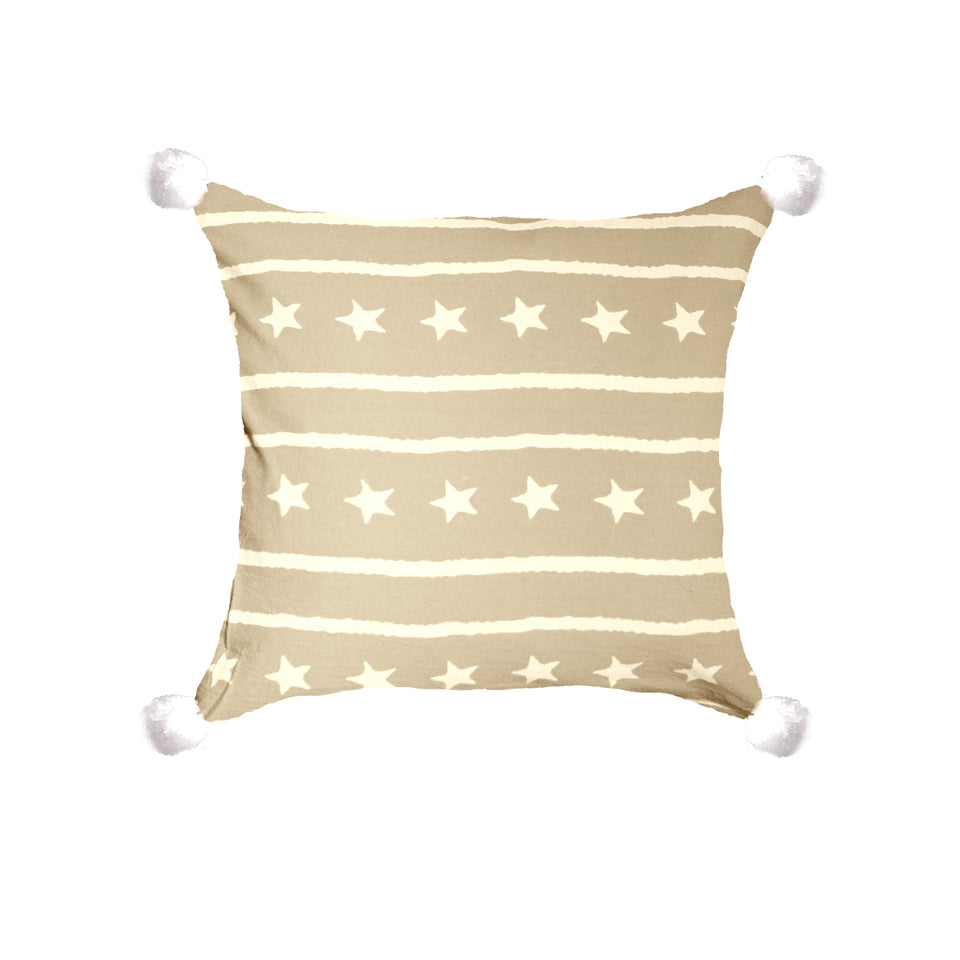 Star With Side Bushes Throw Pillow