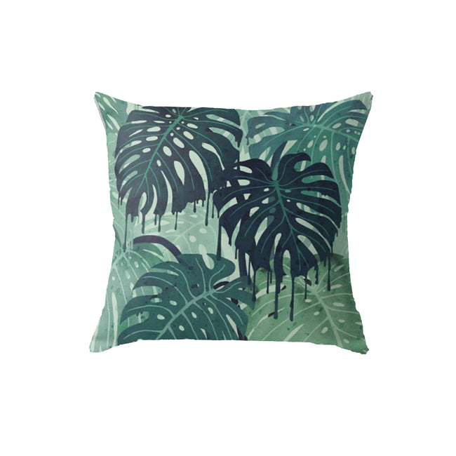 SuperSoft Green Tropical Throw Pillow