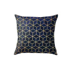 SuperSoft Navy Cubes Throw Pillow
