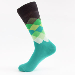 Faded Green Diamond Crazy Socks