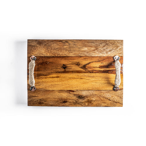 Sheesham Straight Wooden Steak Tray/Platter
