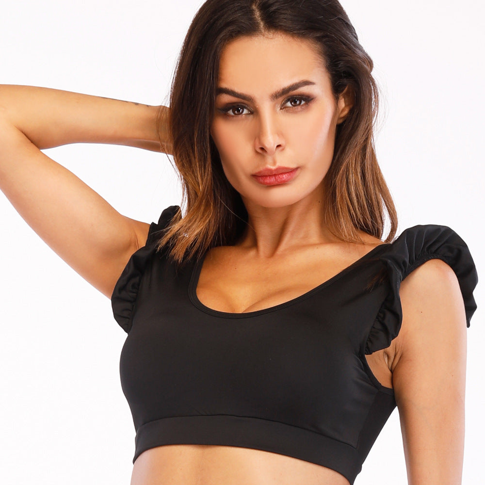 Black Crazy Sports Top