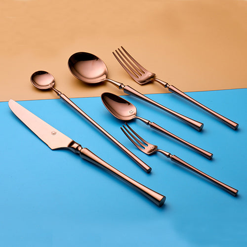 Modern Shiny Rose Gold Cutlery Set (PRE ORDER)