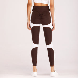 Brown and White Crazy Yoga Pants