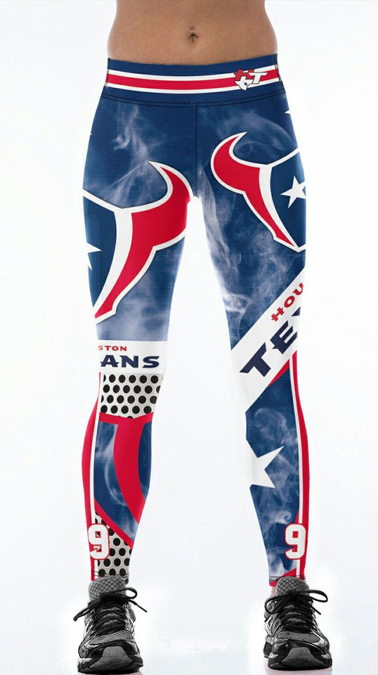 Texans Football Crazy Leggings