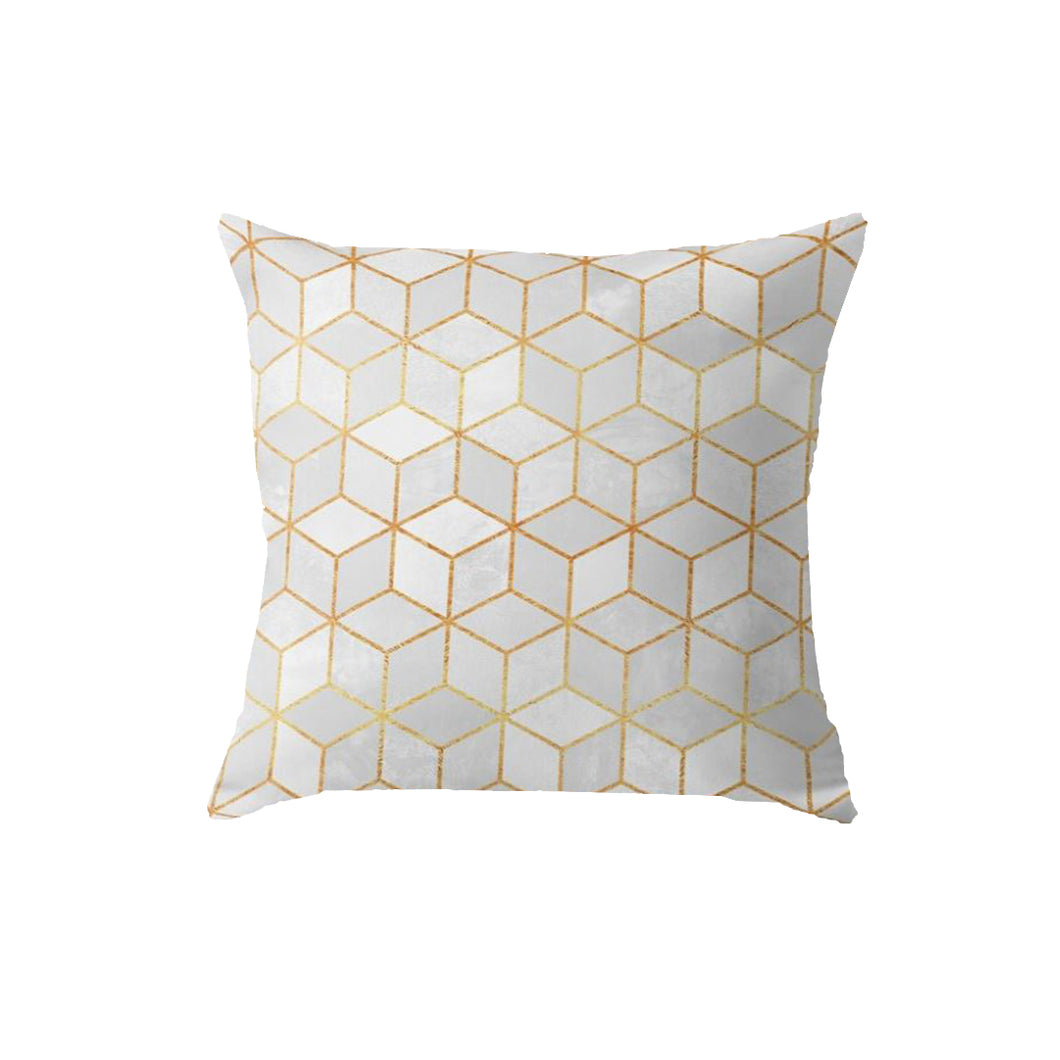 SuperSoft White Cubes Throw Pillow