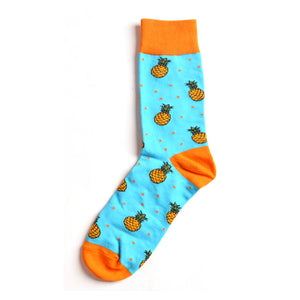 Pineapples in the Sky Crazy Socks
