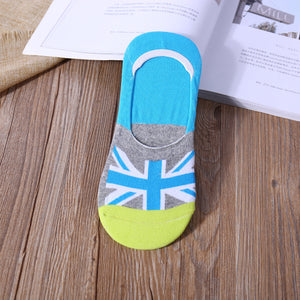 Pack of 5 Flag Slip On Crazy Socks