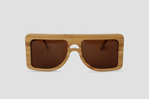 Big Square Wood Sunglasses