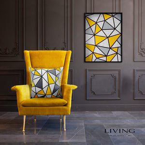 Yellow Geometric Canvas Painting
