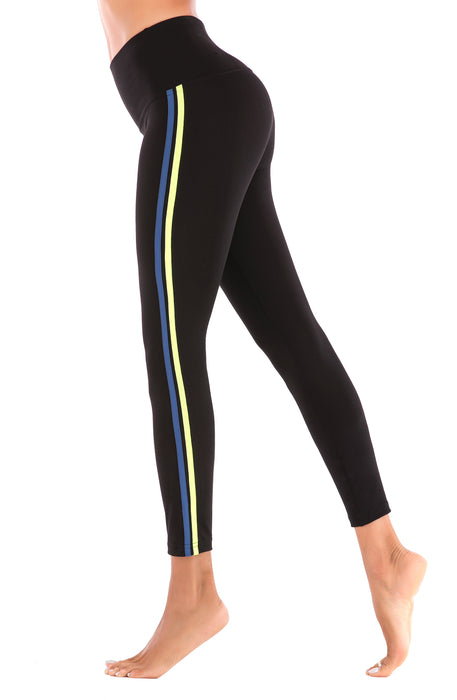 Black with Stripes Crazy Yoga Pant