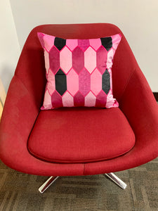 SuperSoft Pink Geo Throw Pillow