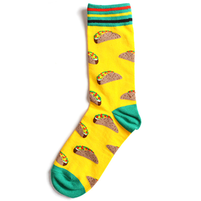 Tacos on Yellows Crazy Socks