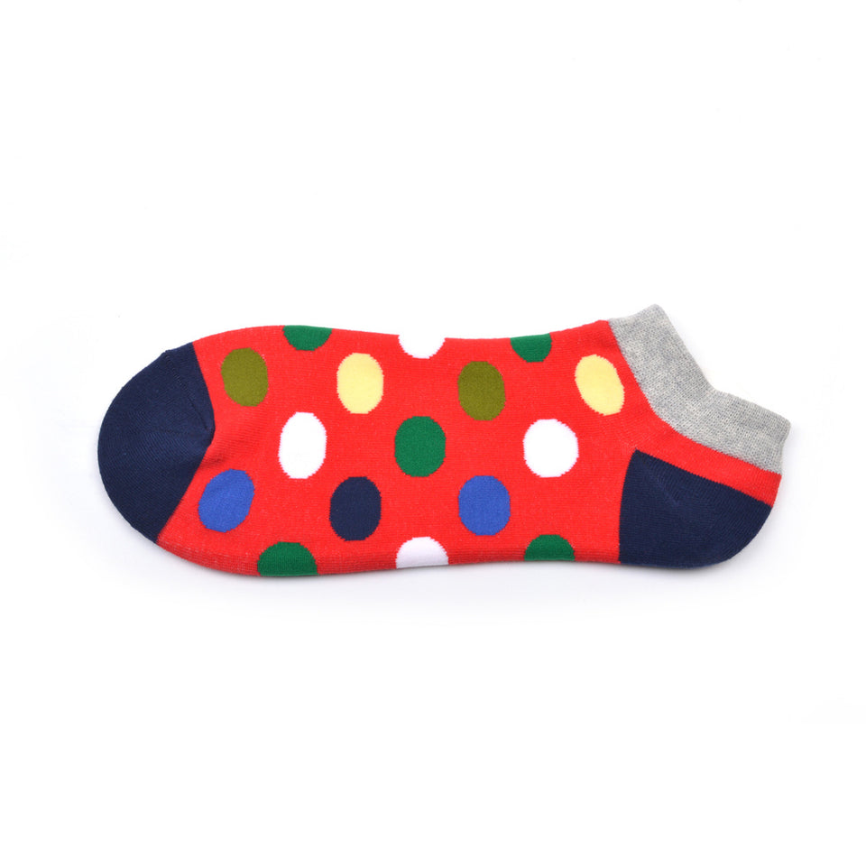 Red Polka Dots Summer Crazy Socks