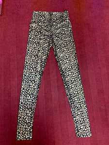 Golden & Silver abstract Crazy Leggings