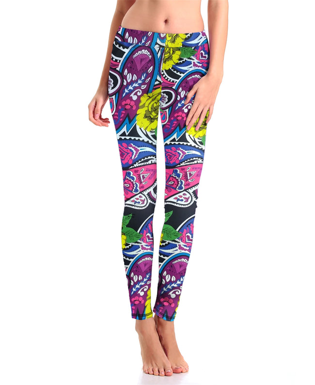 Colorful Abstract Crazy Leggings