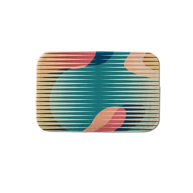 SuperSoft Colorful Abstract Door Mat