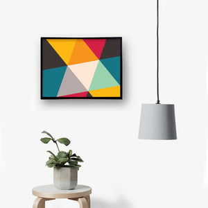 Colorful Triangle Canvas Painting