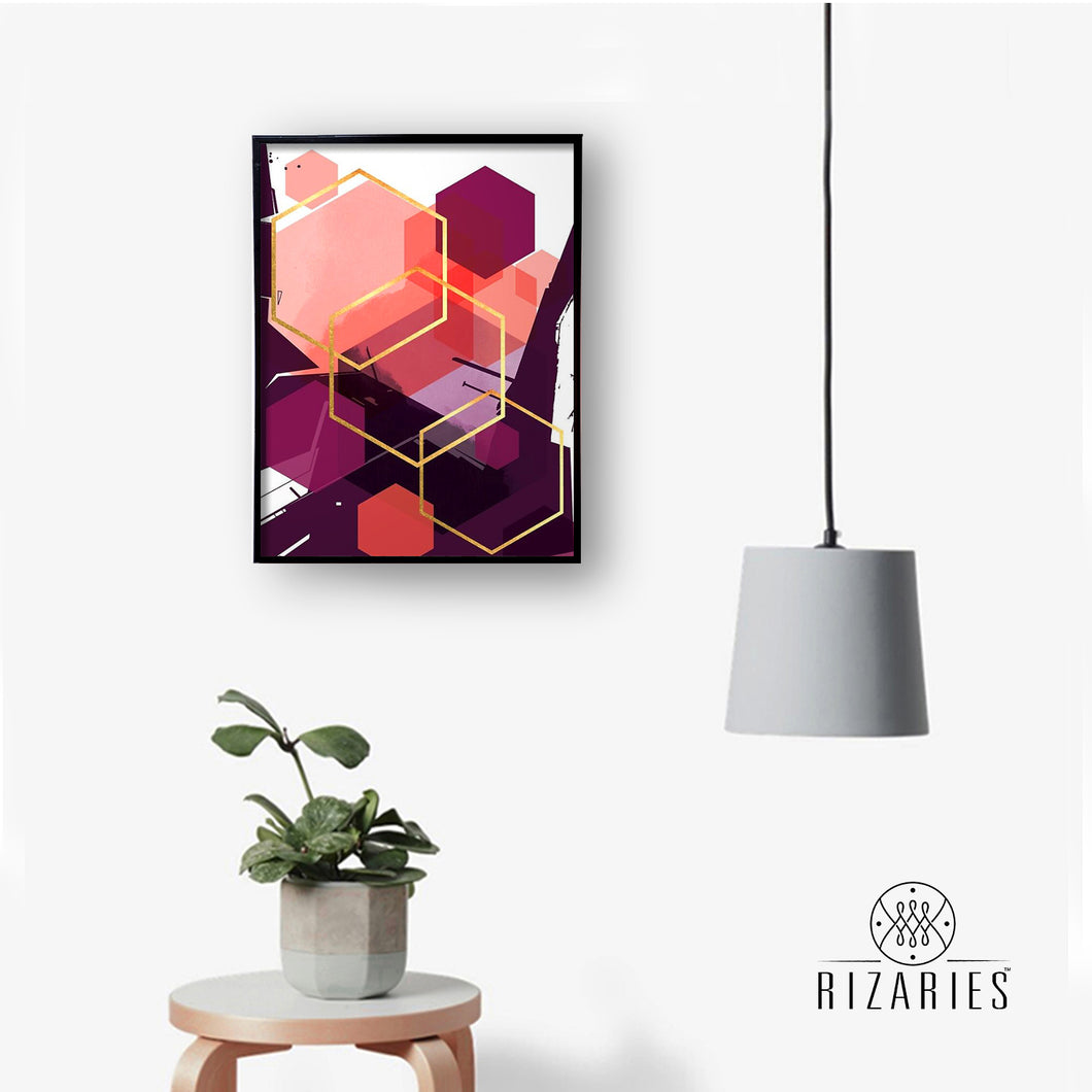 Magenta Abstract Canvas Painting