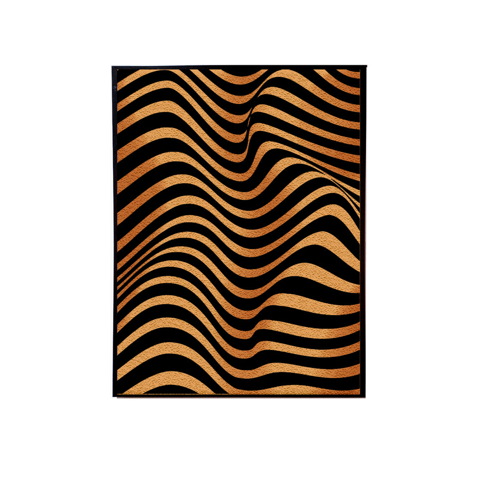 Gold Black 3D Handmade Canvas Painting