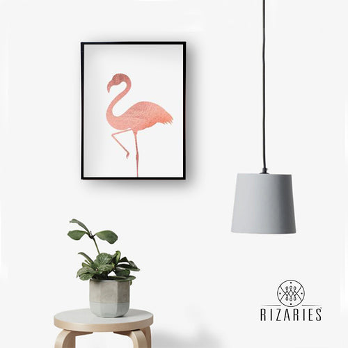 Pink Flamingo Handmade Canvas Painting