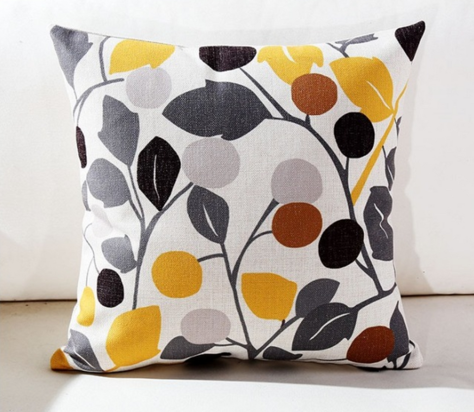 Colorful Flower Cushion Cover