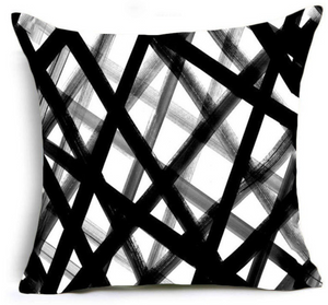 SuperSoft Black Abstract Lines