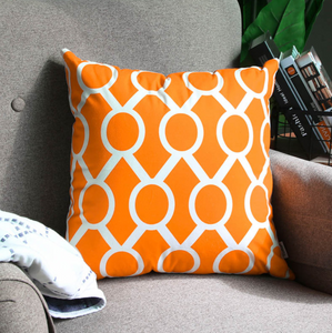 Super Soft Orange Rounds Cushion Cover