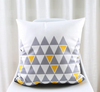 SuperSoft Grey Triangles Cushion Cover