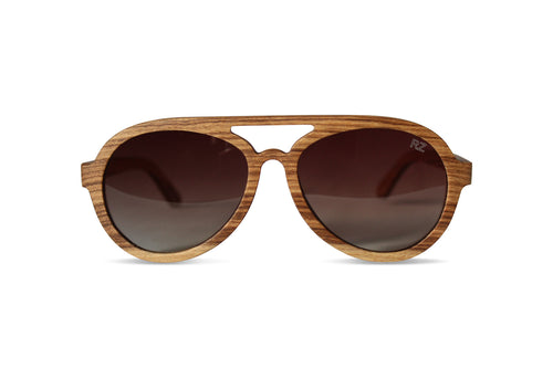 Natural Zebra Wood Sunglasses