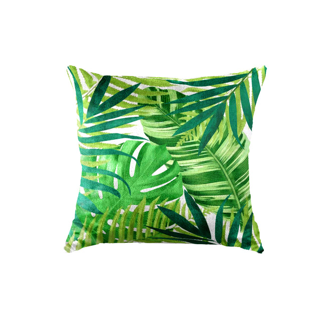 SuperSoft Tropical Forest Leaves Throw Pillow