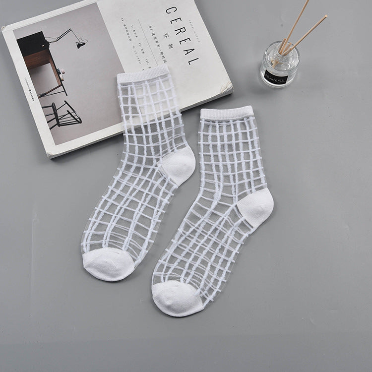 Box Design Women Sheer Socks