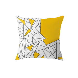 SuperSoft Yellow Geo Pattern Throw Pillow