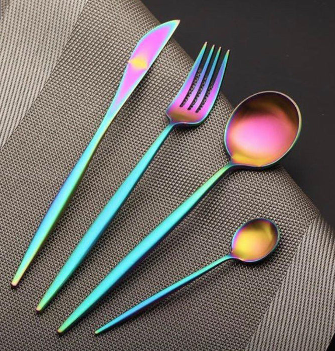 Multi Color Cutlery Set